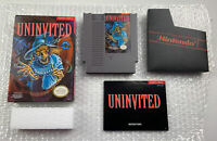 Uninvited (Nintendo Entertainment System, NES) Cart, Box & Manual Tested Working