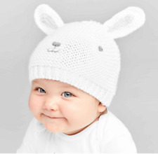 NEW Baby Crochet Bunny Cap - Just One You made by carter's White One Size