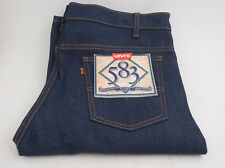 Levi & Strauss Vintage NOS Dead Stock 583 Orange Tag Jeans 38x32 NWT Flare
