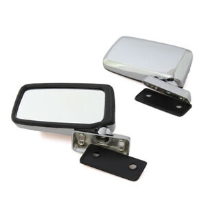 """CHROME DOOR MIRROR PAIR SIZE 3-3/8"""" x 6"""" FIT FOR NISSAN DATSUN 720 PICK UP TRUCK"""