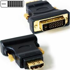 DVI-D Macho a hdmi hembra adaptador de enchufe Video para Monitor Convertidor