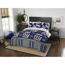 Comforter Set Queen New York Giants Nfl 5 Piece Bedding Sheets Blue Bed in a Bag