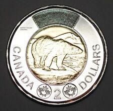 Canada 2020 2 Dollar BU Canadian Toonie Polar Bear Uncirculated Coin From Roll