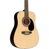 Rogue RA-090 Dreadnought 12-String Acoustic Guitar Regular Natural
