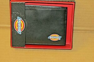 DICKIES Billfold Wallet Black Leather STYLE 31IP130004 COLOR BLACK NEW IN BOX