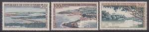 Ivory Coast C22-24 MNH 1963 Sassandra Bay Bridge & Comoe River Airmail Set VF
