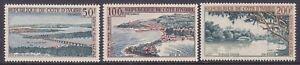 Ivory Coast C22-24 MNH 1963 Sassandra Bay Bridge & Comoe River Airmail Set VF