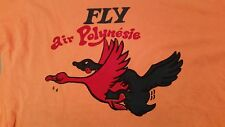 "Vintage Adult Humor ""Fly Air Polynesie"" T Shirt Size 40"