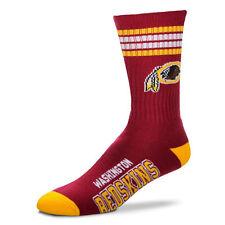Washington Redskins Men's Crew Socks Medium Size 5 to 10 4 Stripe