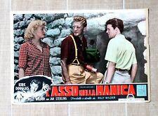 L'ASSO NELLA MANICA fotobusta poster Kirk Douglas Billy Wilder Jan Sterling T65