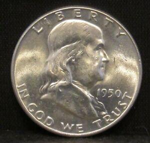 1950 Franklin Half Dollar CHOICE BU