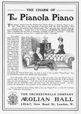 The Pianola Piano - Antique Advert 1910