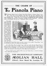 The Pianola Piano - Antique Advert 1910