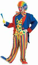 Clown Suit Unisex Multi Colored Tail Coat With Attached Vest Pants & Bow Tie 3XL