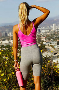 NEW Free People Movement Seamless Watch Out Tank Crop in Pink XS/S-M/L $48.80