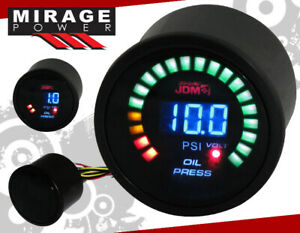 "2"" 52mm Digital Blue Led JDM Oil Pressure Meter Racing Monitoring Gauge For Vw"