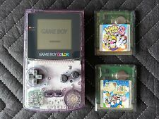 Nintendo Game Boy Color Atomic Purple CGB-001 Handheld System With Games