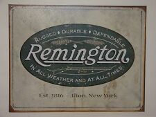 """Vintage Style """"Reminton Rugged Durable Dependable""""  Metal Sign Man Garage S67"""