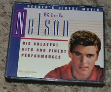 Greatest Hits CD SET 3 cd readers Digest Rare Rick Nelson OOP 60 Tracks.  19.99