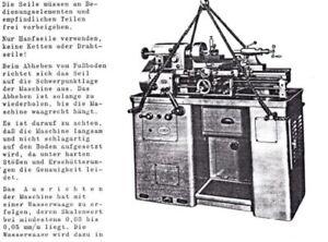 Drehmaschine Leinen LZ4S + LZ4P+MLZ 4S + Zubehör Bedienungsanleitung