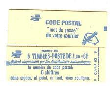 CARNET TYPE SABINE N° 1974  - C1A GOMME MATE AVEC NUMERO **