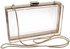 Women Jelly Handbag Evening Transparent Clear Box Clutch Acrylic Cross-Body