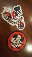 (2) MICKEY Mouse  patches Motorcycle Mouse  & 1956 club KIDS FUN
