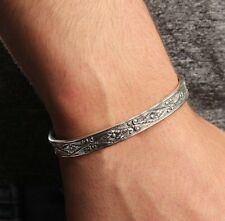 Turkish Handmade Jewelry 925 Sterling Silver Special Art Mens Mans Bracelet