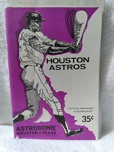 1970 Astros Game Souvenir Program  UNMARKED scorecard