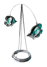 Crystocraft Twin Fish Crystal Ornament Made With Swarovski Elements Gift Boxed