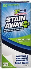 Stain Away Plus Denture Cleanser 8.10 oz (Pack of 4)