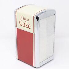 """Vintage 1992 Coca-Cola """"Have A Coke"""" Metal Napkin Holder Dispenser"""