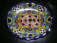 Talavera Mexico Decorative Plate with wire Hanger Option
