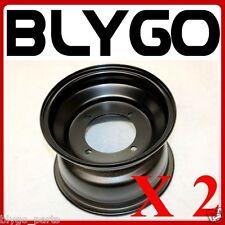 "2X Black 19X7.00- 8"" Inch Large 4 Stud Front Wheel Rim Quad Dirt Bike ATV Buggy"