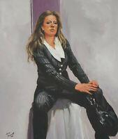 Signiert Buko Königshoff ? datiert 09 - Frauenportrait