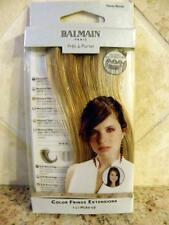 "New BALMAIN PARIS Color Fringe Hair Extentions 5.9"" Memory Hair Clip On"