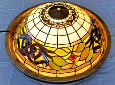 """Beautiful  Iridescent Tiffany Style Stained Glass Ceiling Light Shade 16"""""""