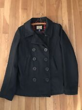 Heritage 1981 Forever 21 Navy Blue Peacoat Wool Blend Lined Jacket  Size Medium