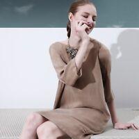 NWT $287 ITALIAN DESIGNER Loose Fit Women Summer Dress Tunic Size 6 8 10 12 14