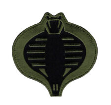 COBRA GI JOE USA ARMY TACTICAL FOREST GRN COMBAT MORALE HOOK PATCH (COB1)