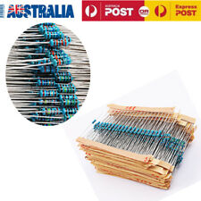 1280pcs Metal Film Resistors Assortment Kit Set 64 Values 1 ohm - 10M ohm 1/4W