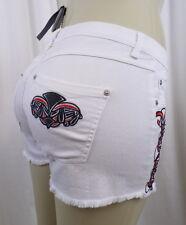 April May Taipei White Stitched Hot Pants Shorts Sz. 28 NWT $275
