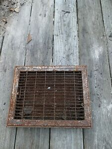 Antique Vintage metal Floor GRATE Heat Grille Furnace REGISTER +LOUVERS Lot 3
