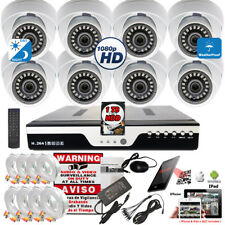 8 Channel Hd Dvr 8x Wide Angle 1080p Night Vision Security Camera System w/1Tb