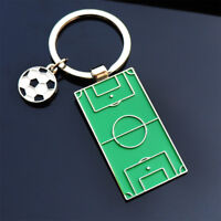 Personality Alloy Football Field Metal Key Chain Key Ring Key Holder Unisex Gift