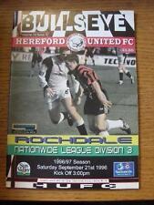 21/09/1996 HEREFORD United V ROCHDALE [ultimo LEAGUE STAGIONE HEREFORD] (MODIFICA del team