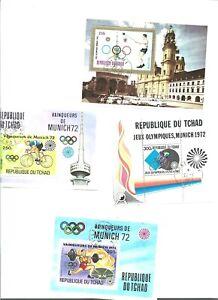8 blocs feuillets TCHAD Jeux Olympiques Mexico 1972