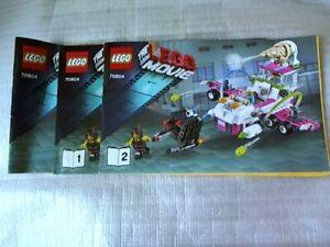 LEGO MOVIE 70804 Ice Cream Machine Instruction Manual (No Bricks included).