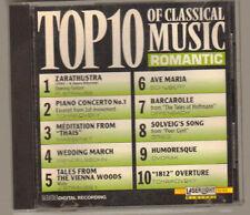 Top 10 of classical Music romantic CD- 1990 Laser Light Digital 65 Mins.10 songs