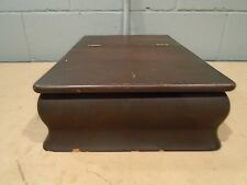 Antique Laptop Desk or Vintage Telephone Box Early 1900s Reservation Secretary